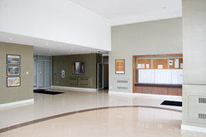 View of the Lobby and mailboxes